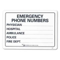 SIGN-EMGNCY PHONE NO 10