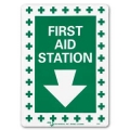 SIGN-FIRST AID STATION 10